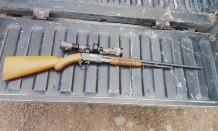 ¡Detuvieron a un sujeto en Calvillo, Aguascalientes, en posesión de un arma de fuego larga con mira telescópica!