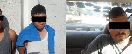 ¡Policías estatales de Aguascalientes detuvieron a 3 sujetos que asaltaron una gasolinera!