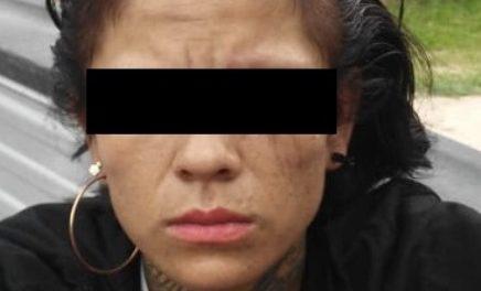 """¡""""La Chola"""", mujer originaria de Zacatecas, fue detenida en Aguascalientes con 50 dosis de """"crystal""""!"""