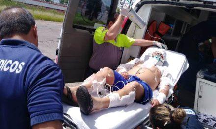 ¡Flamazo en una casa en Aguascalientes dejó 3 lesionados, uno de ellos de gravedad!