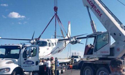 ¡Esposa del gobernador de Zacatecas sufrió percance en el aeropuerto y salió ilesa!