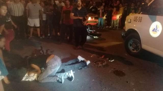¡Motociclista falleció tras estrellarse contra un automóvil en Aguascalientes!