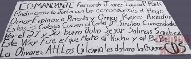 "¡Grupo criminal ""Los Gloria"" le declara la guerra al Cártel de Sinaloa en Aguascalientes!"
