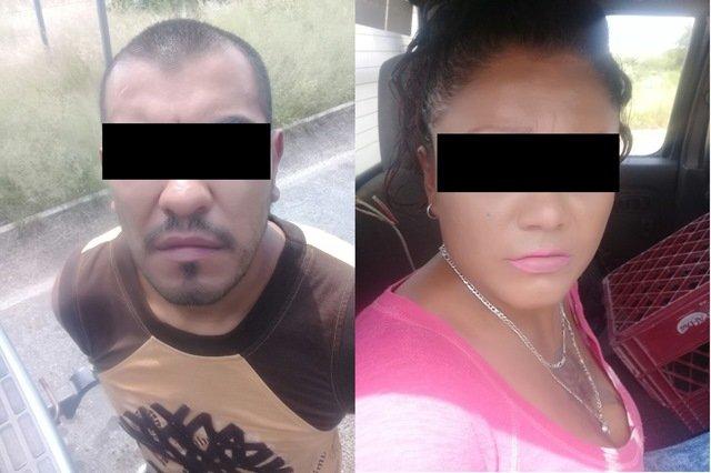¡Detuvieron a una pareja con un arma de fuego y droga en San Francisco de los Romo, Aguascalientes!