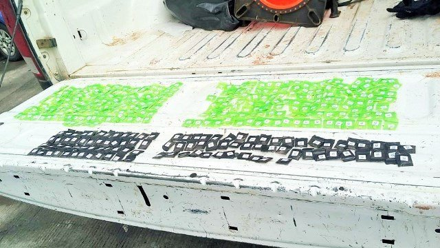 """¡Capturaron a una pareja con 390 dosis de """"crystal"""" en un autobús de pasajeros en Jerez, Zacatecas!"""