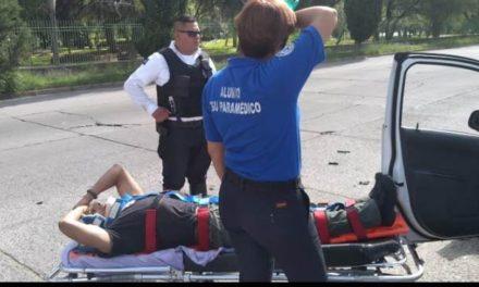 ¡Choque entre 2 autos dejó saldo de 6 lesionados en Aguascalientes!