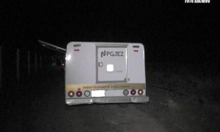 ¡Automovilista murió embestido por un camión en Zacatecas!