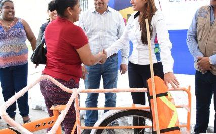 """¡""""Recuperadores realizan una actividad vital para el medio ambiente y los aguascalentenses"""": Tere Jiménez!"""