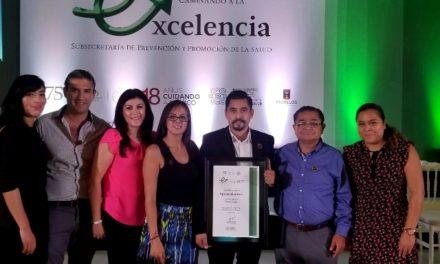 ¡Recibe la Secretaría de Salud de Aguascalientes cuatro reconocimientos federales!