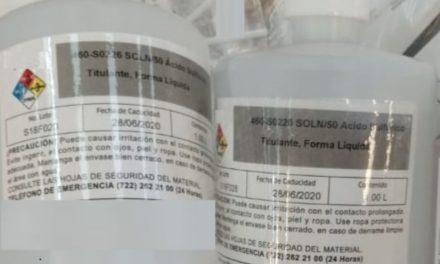 ¡Aseguran químicos para producir narcóticos en el aeropuerto de Aguascalientes!