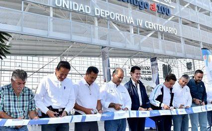 ¡Entrega el gobernador obras en la Unidad Deportiva IV Centenario por 20.9mdp!