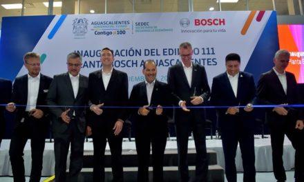 ¡Inaugura el gobernador ampliación de la planta Bosch en Aguascalientes!
