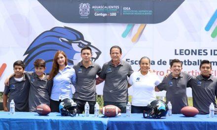 ¡Realizan presentación oficial de la escuela de football americano Leones-IDEA!