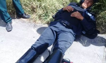 ¡Policía vial resultó lesionado tras ser embestido por un automovilista en Aguascalientes!