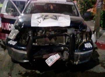 ¡Patrulla de la Policía Municipal de Calvillo se accidentó en Aguascalientes y una cadete resultó lesionada!
