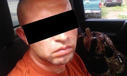 ¡Detuvieron a sujeto con un arma de fuego larga y cartuchos útiles en Aguascalientes!