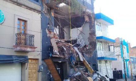 """¡Se derrumbó el Bar """"Casa Segunda"""" en Aguascalientes!"""