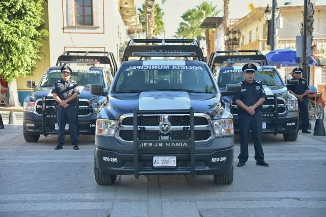 ¡Adquiere el Municipio de Jesús María tres nuevas patrullas!