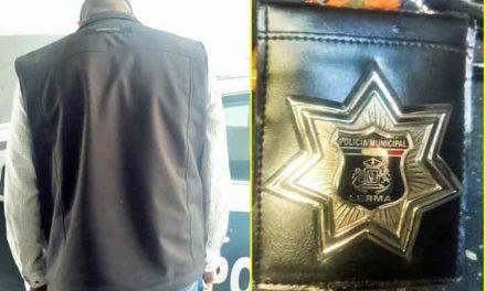 ¡Policías Municipales de Aguascalientes capturan a sujeto que se hacia pasar por Policía!