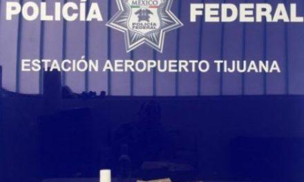 ¡Metanfetamina líquida que salió de Aguascalientes fue incautada por la Policía Federal en el aeropuerto internacional de Tijuana!