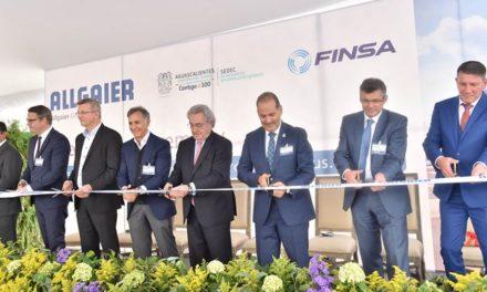¡Inaugura el gobernador nueva empresa alemana en Aguascalientes con inversión de 20.6mdd!