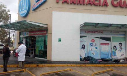 ¡Mujer indigente fue encontrada muerta afuera de una farmacia en Aguascalientes!