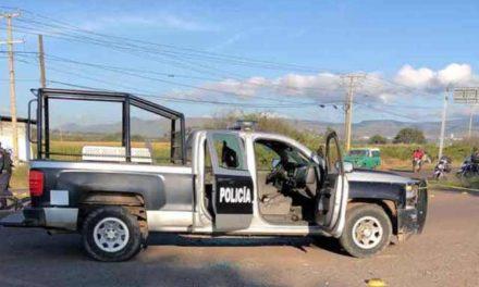 ¡Atacaron a policías municipales de Pénjamo, Guanajuato: 1 muerto y 2 lesionados!