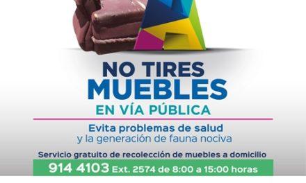 ¡Municipio de Aguascalientes pone a disposición de la ciudadanía el servicio de recolección de muebles!