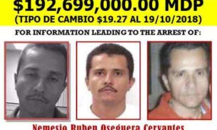"""¡La DEA sube a 10 millones de dólares recompensa por """"El Mencho""""!"""
