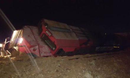¡Delincuentes descarrilaron un tren en Aguascalientes para intentar saquearlo!