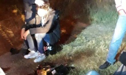 ¡3 lesionados tras desigual choque entre una motocicleta y una bicicleta en Aguascalientes!