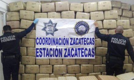 ¡Policías federales aseguraron cerca de 4 toneladas de marihuana en Zacatecas!