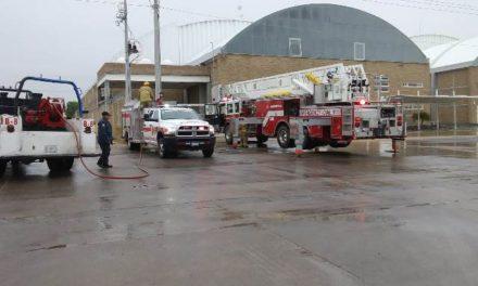 ¡Evacuaron una empresa en Jesús María, Aguascalientes, por una fuga de gas!