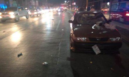 ¡Grave hombre atropellado por veloz automóvil en Aguascalientes!