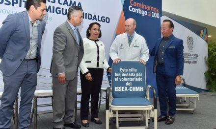 ¡Entregan sillas-cama en donación al Hospital Hidalgo!