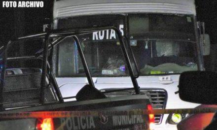 ¡Chofer de camión urbano en Fresnillo fue ejecutado frente a pasajeros!