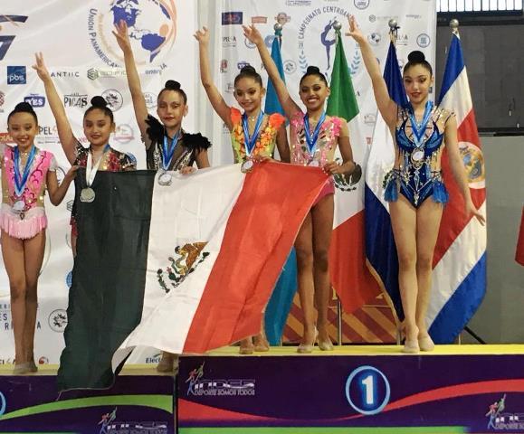 ¡Gimnastas hidrocálidas lucen en la Copa Panamericana de Clubes de Gimnasia Rítmica en El Salvador!