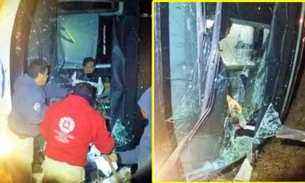 ¡5 originarios de Aguascalientes resultan heridos en la volcadura de un autobús de la línea Chihuahuenses!