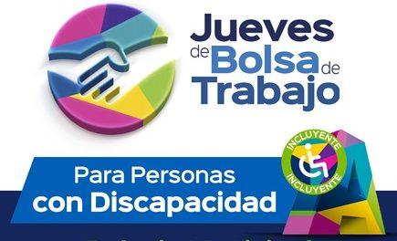 ¡Próximo jueves de bolsa de trabajo será para personas con discapacidad!