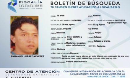 ¡Reportan la desaparición de otro joven en Aguascalientes!