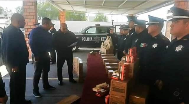 ¡Entrega la SSPE cartuchos a las Policías Municipales de Aguascalientes!