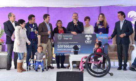 ¡Entregó el gobernador 20mdp al CRIT Aguascalientes!