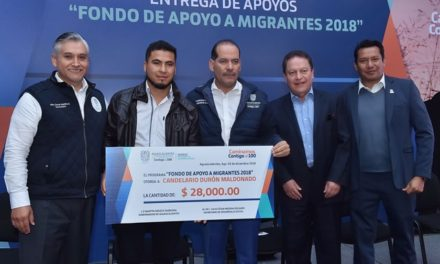 ¡Entrega el gobernador apoyos a migrantes por 2.9mdp para proyectos productivos!