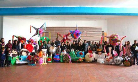 ¡Preescolares echan a andar la creatividad en el primer concurso de piñatas navideñas!