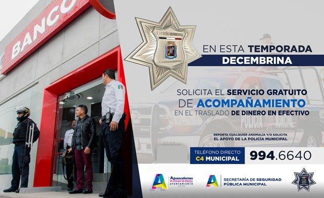 "¡Refuerza Policía Municipal de Aguascalientes operativo ""Navidad Segura""!"
