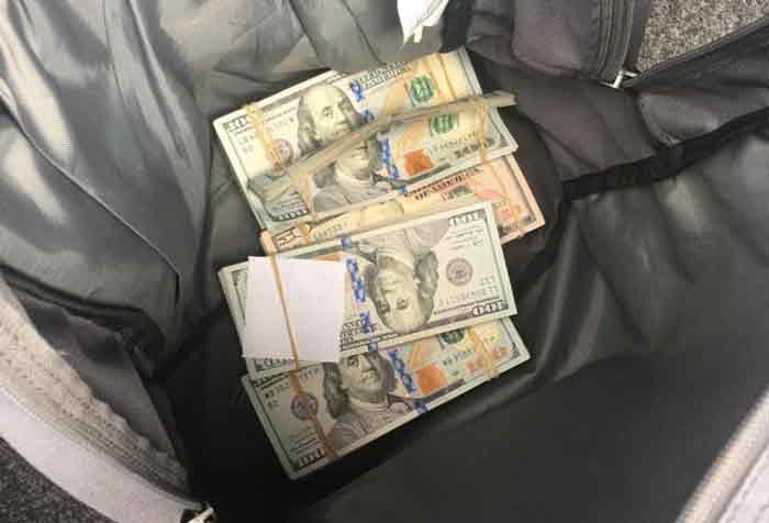 ¡Portaba más de 76 mil dólares en efectivo de los cuales no pudo acreditar su propiedad o procedencia!