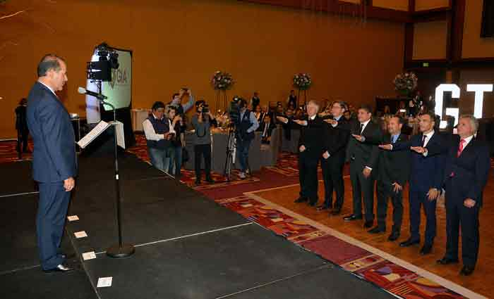 ¡Toma Gobernador Protesta al Nuevo Presidente del Grupo Industrial de Aguascalientes!