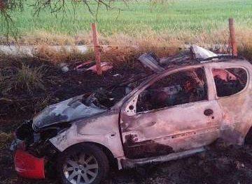 ¡Ya identificaron a los 2 jóvenes calcinados tras accidente automovilístico en Aguascalientes!