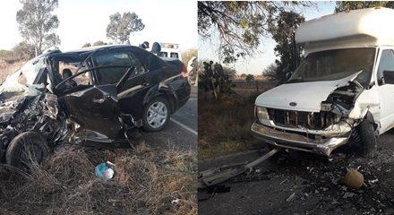 ¡Choque entre una camioneta y un auto dejó 1 muerto y 1 lesionado en Aguascalientes!