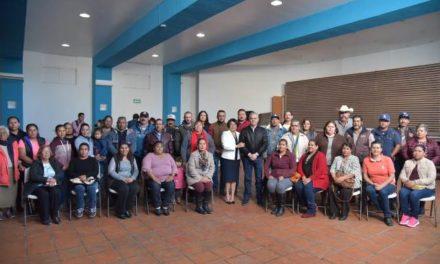 ¡Reafirman lazos de colaboración delegados municipales y comisarios con Noel Mata!